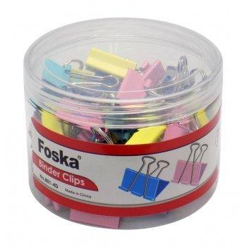 Πιάστρες Χρωματιστές Foska No 2 25mm Βάζο 48 τεμ.